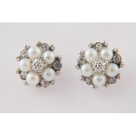 Little Lace Pearl Flower Earrings