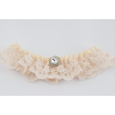 Little Lace Ivory Floral Lace Garter