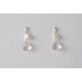Little Lace Carla Davis Collection Rose Quartz Earrings
