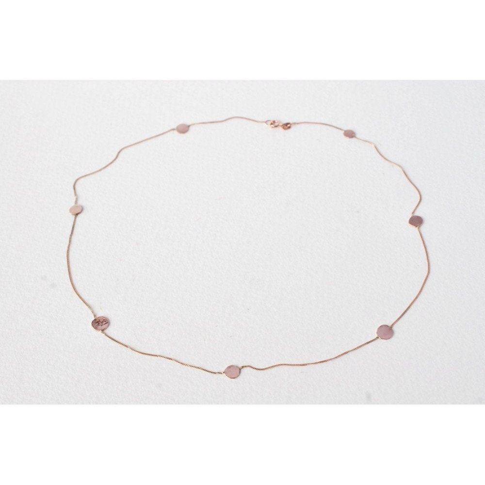 Little Lace Carla Davis Collection Rose Gold Pieces of Eight Necklace