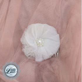 Little Lace: Tulle Flower Hair Comb