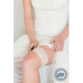 Little Lace Stretch Lace Garter with Embellishment