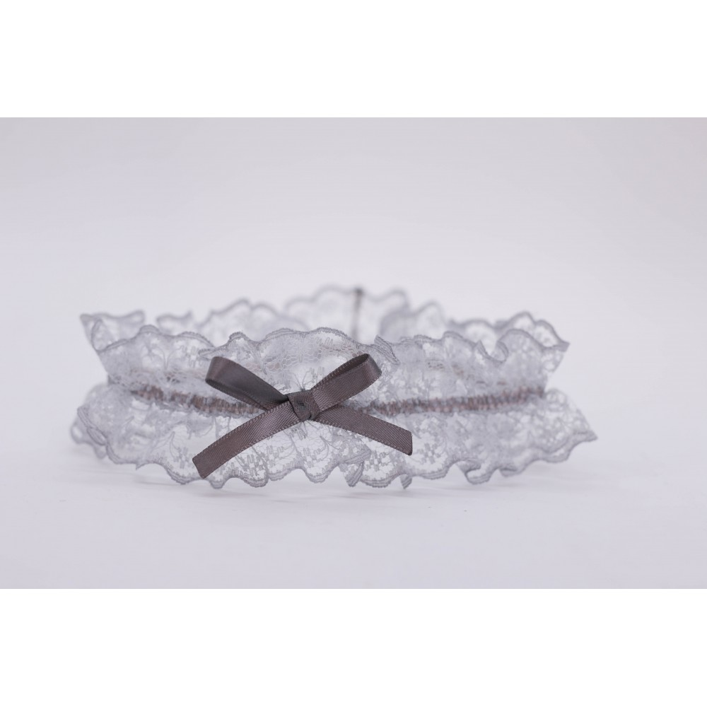 Little Lace Grace Light Grey Lace Garter