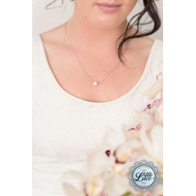 Little Lace Single Pearl Necklace