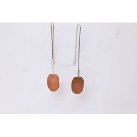 Little Lace Silver and Copper Drop Earrings