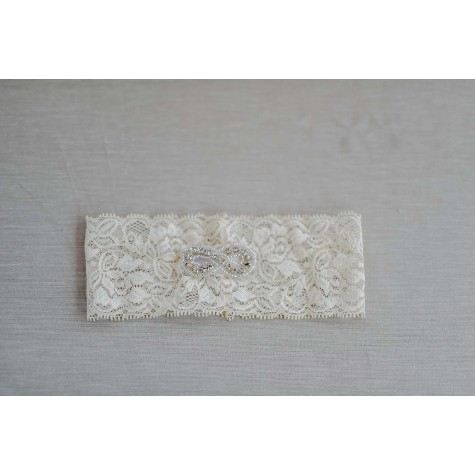 Stretch Lace Garter with Embellishment