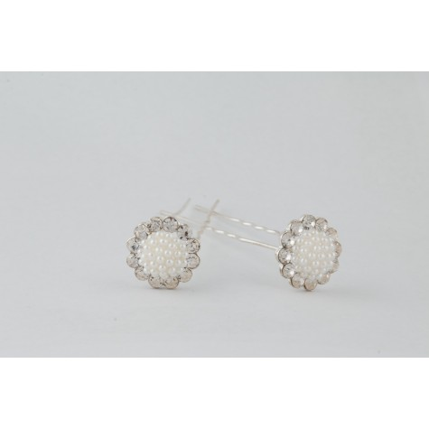 Little Lace Flower Pearl Hair Pin