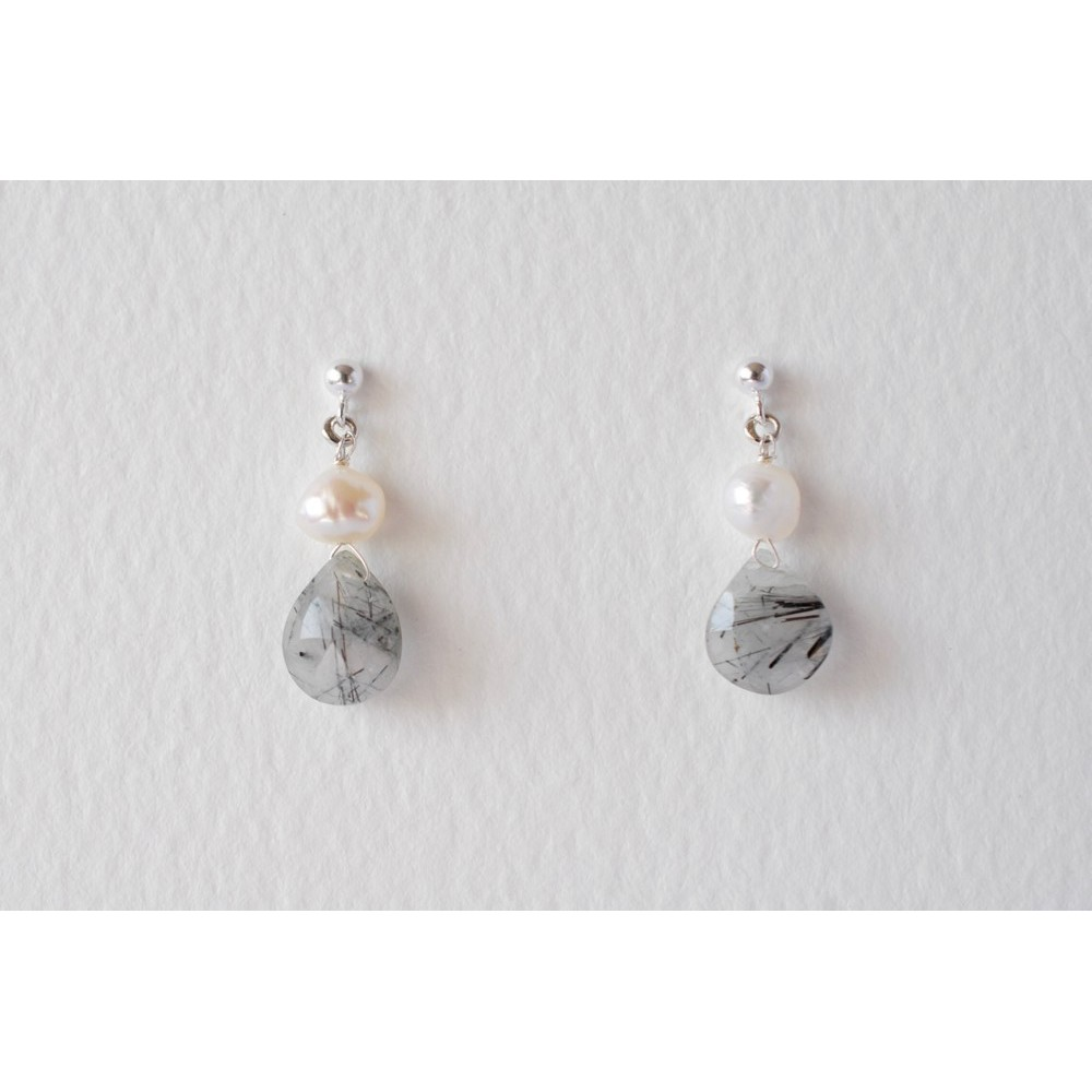 Little Lace Rutile Quartz Earrings