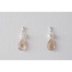 Little Lace Imperial Topaz Earrings