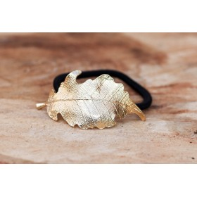 Little Lace Diana Gold Leaf Hair Band