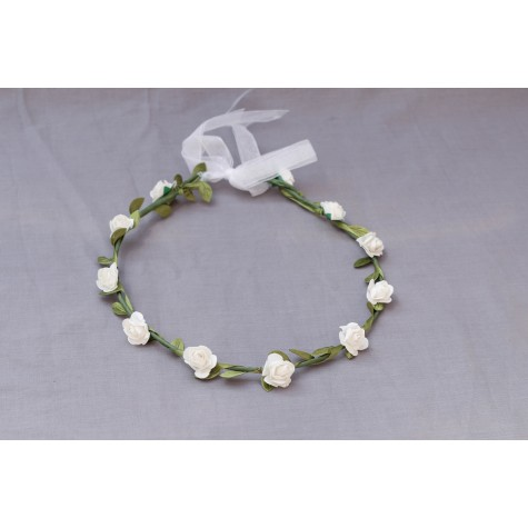 Annabell White Flower Crown