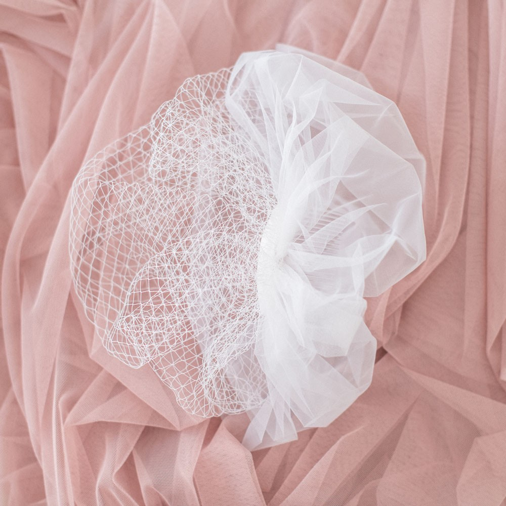Little Lace Double Cage Veil