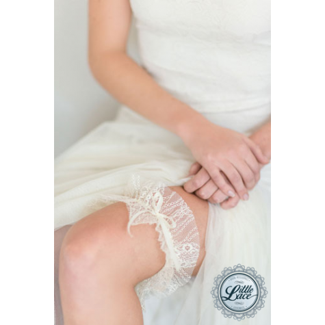 Little Lace Ivory Vintage French Lace Garter