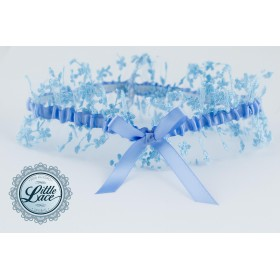 Little Lace: Vintage Blue Lace Garter