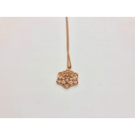 Little Lace Rose Necklace Rose Gold